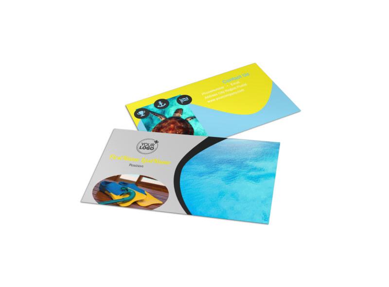 Snorkeling Adventure Business Card Template