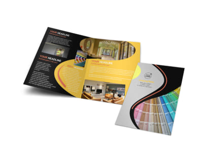 House Painting Contractor Bi-Fold Brochure Template preview