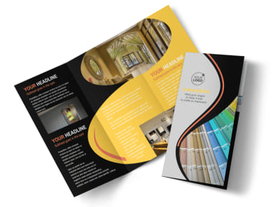 House Painting Contractor Tri Fold Brochure Template preview