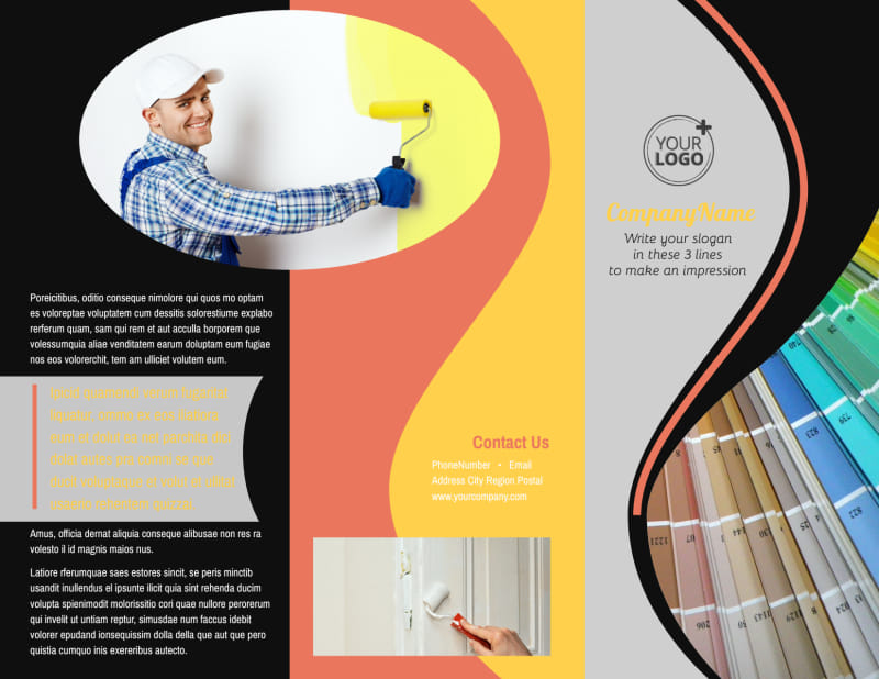 House Painters Brochure Template Preview 2