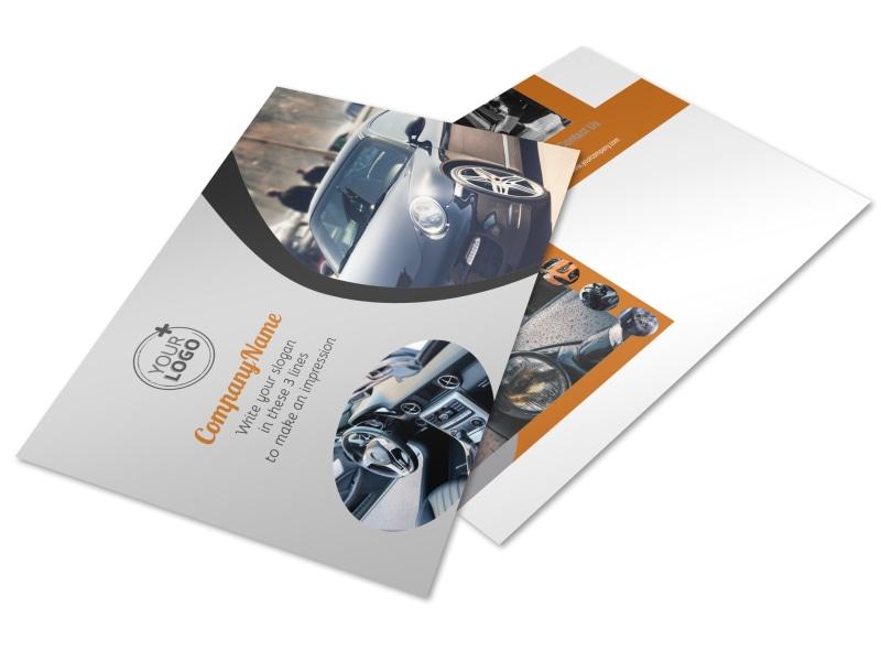 Sport Car Detailing Postcard Template