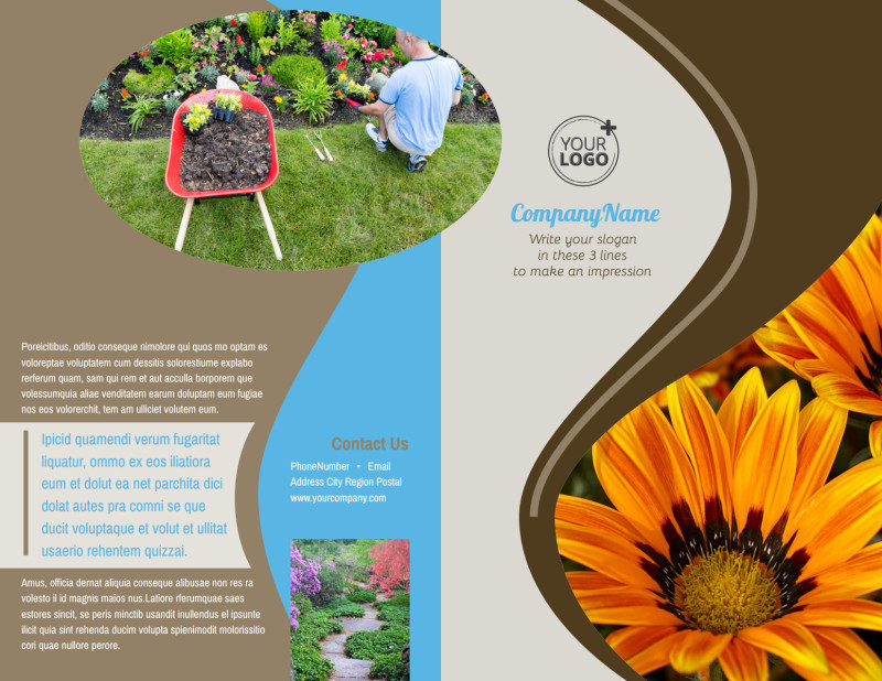 Outdoor Landscape Design Brochure Template Preview 2
