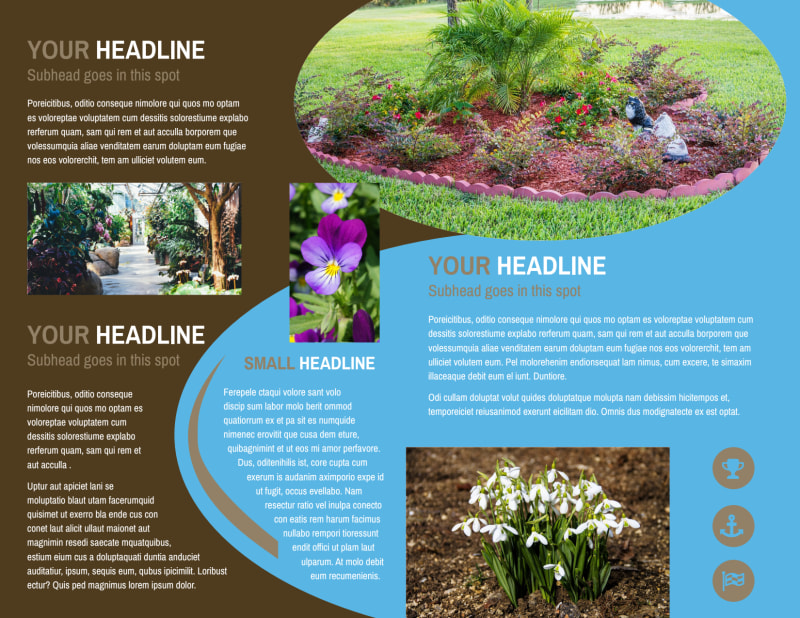 Outdoor Landscape Design Brochure Template Preview 3