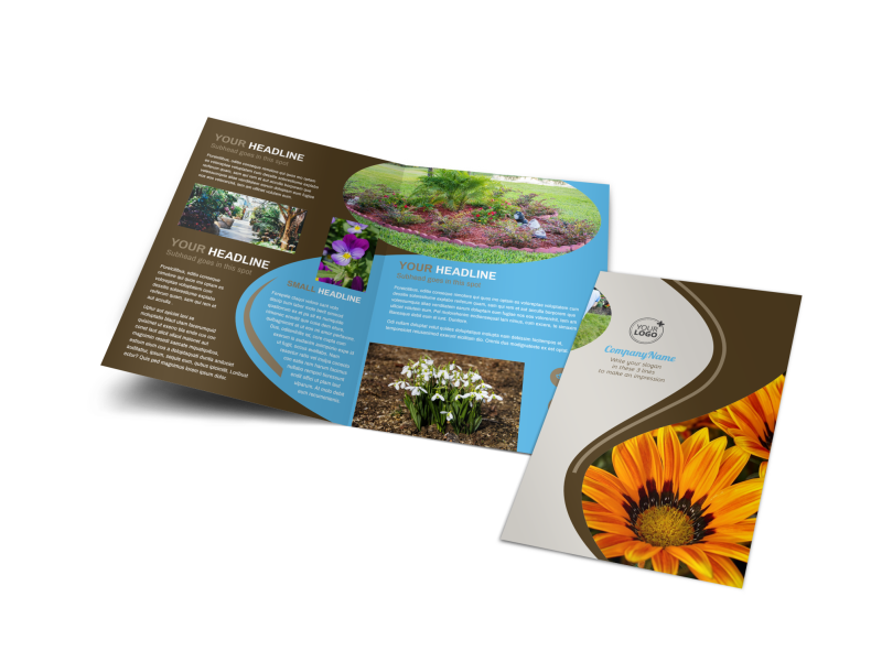 Outdoor Landscape Design Brochure Template Preview 1