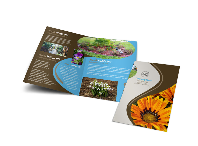 Outdoor Landscape Design Brochure Template Preview 4