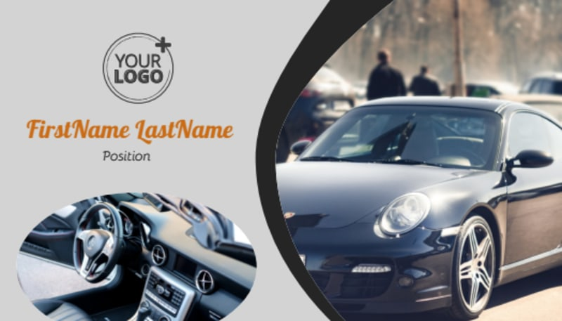 Sport Car Detailing Business Card Template Preview 2