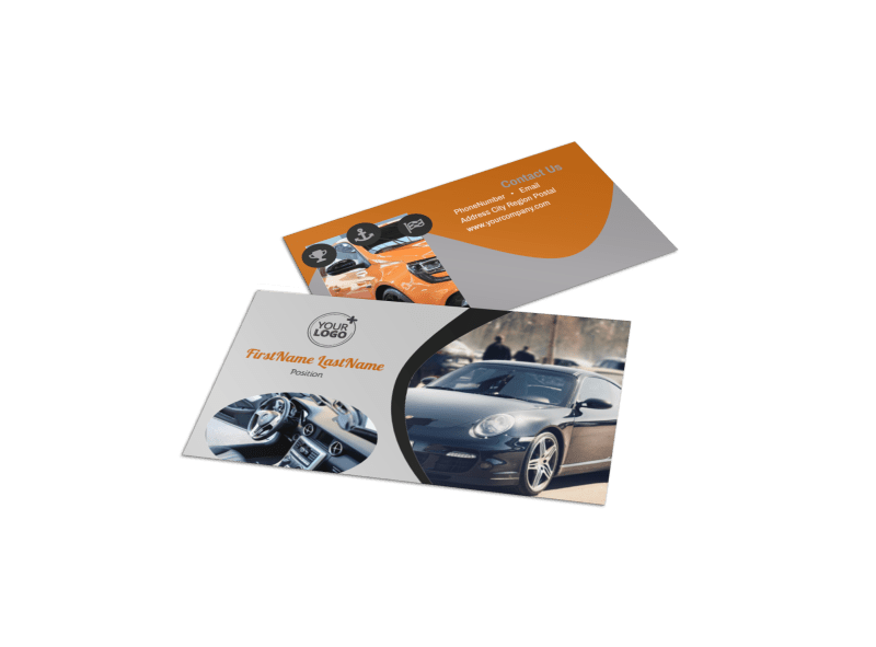 Sport Car Detailing Business Card Template Preview 1