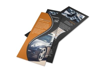 Sport Car Detailing Flyer Template 2