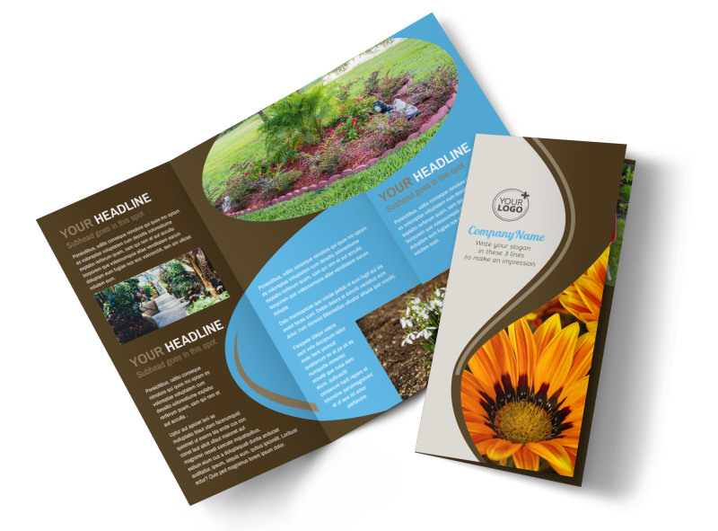 Outdoor Landscape Design Brochure Template | Mycreativeshop