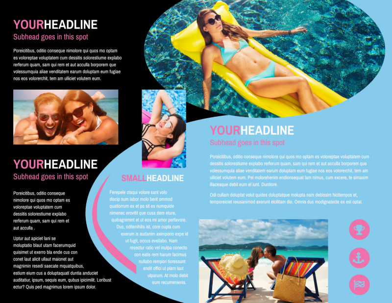 Tanning Salon Brochure Template Preview 3