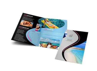 Tanning Salon Bi-Fold Brochure Template preview