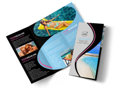 Tanning Salon Brochure Template preview