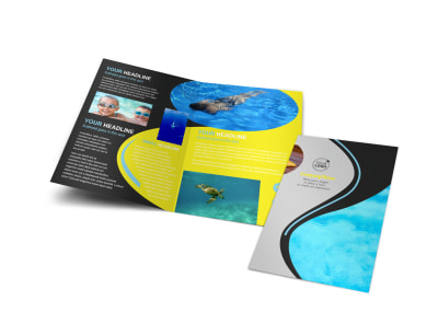 Snorkeling Adventure Bi-Fold Brochure Template