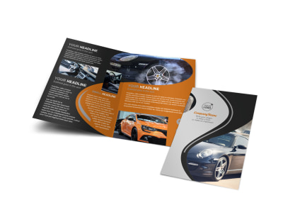 Sport Car Detailing Bi-Fold Brochure Template preview