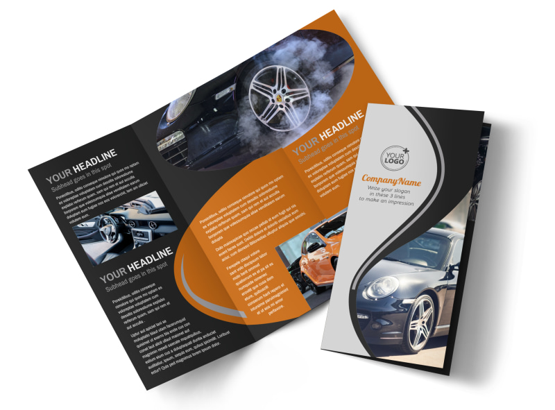 Sport Car Detailing Brochure Template Mycreativeshop