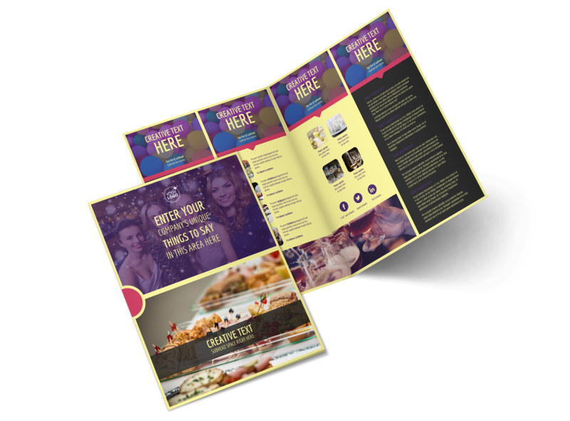 Office Party Bi-Fold Brochure Template 2