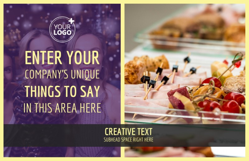 Office Party Postcard Template Preview 2