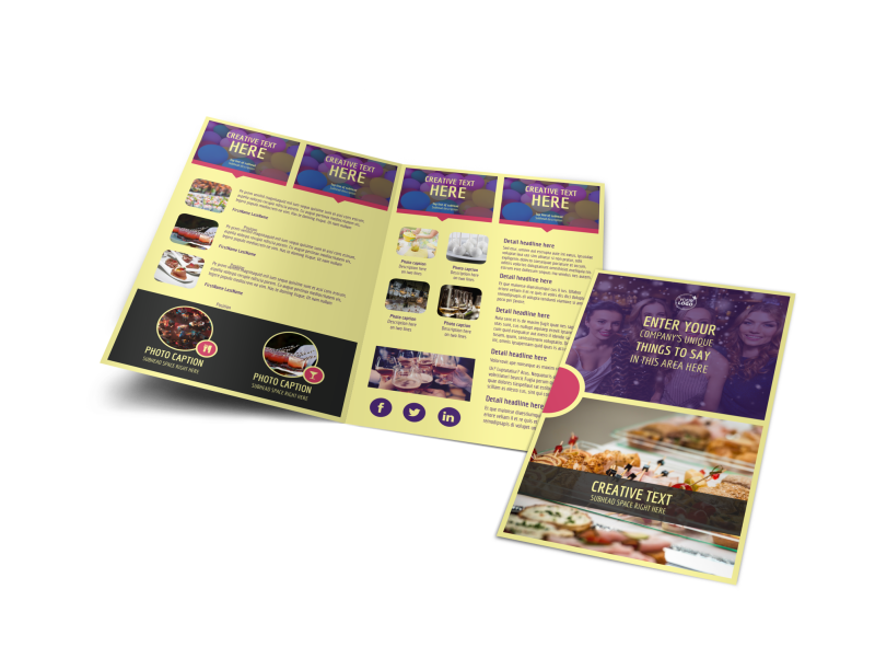 Office Party Brochure Template Preview 1