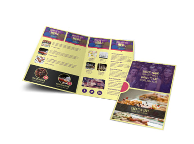 Office Party Bi-Fold Brochure Template