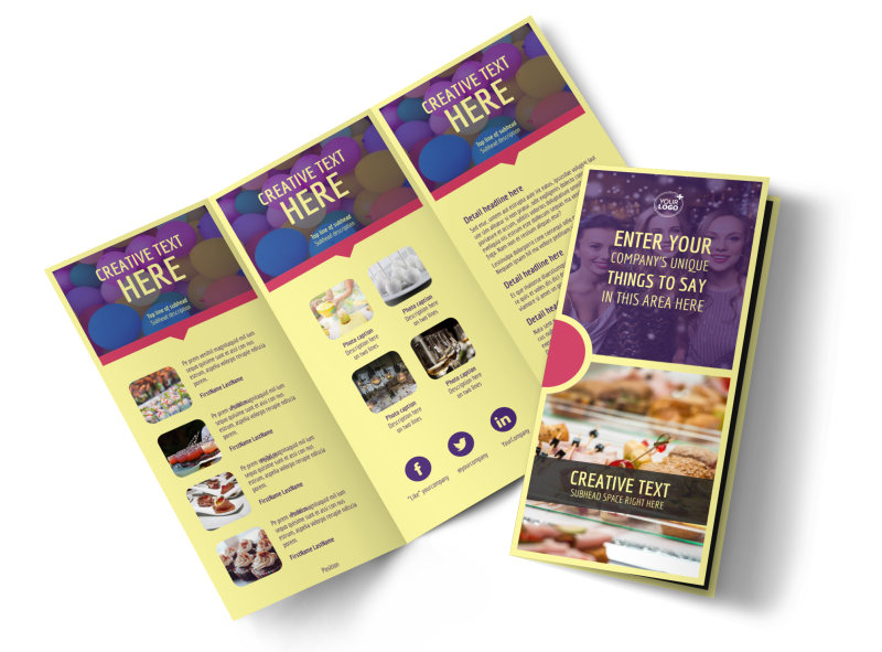 Office Party Tri-Fold Brochure Template