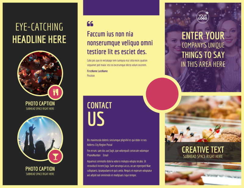 Office Party Brochure Template Preview 2