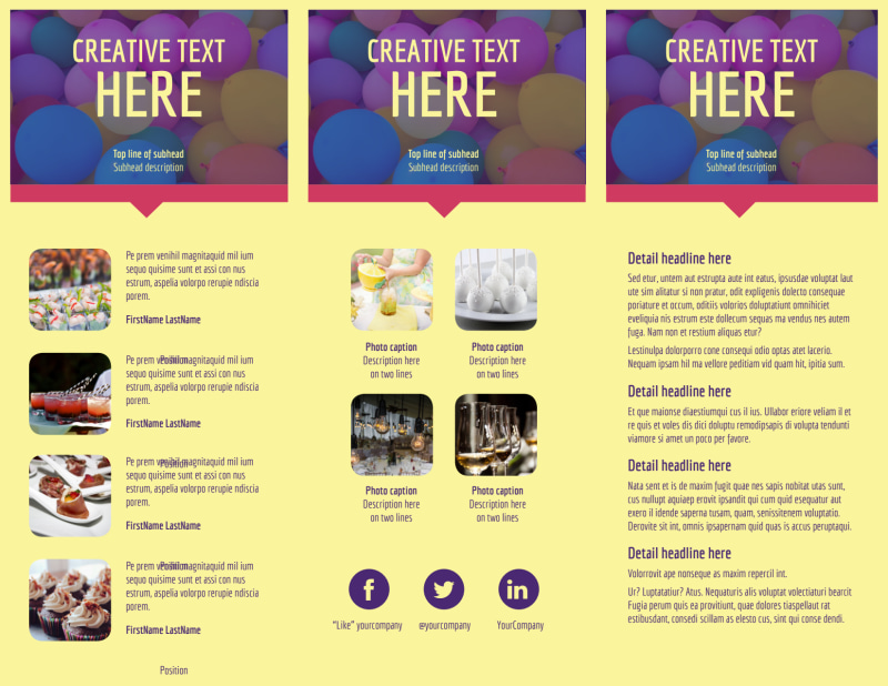Office Party Brochure Template Preview 3