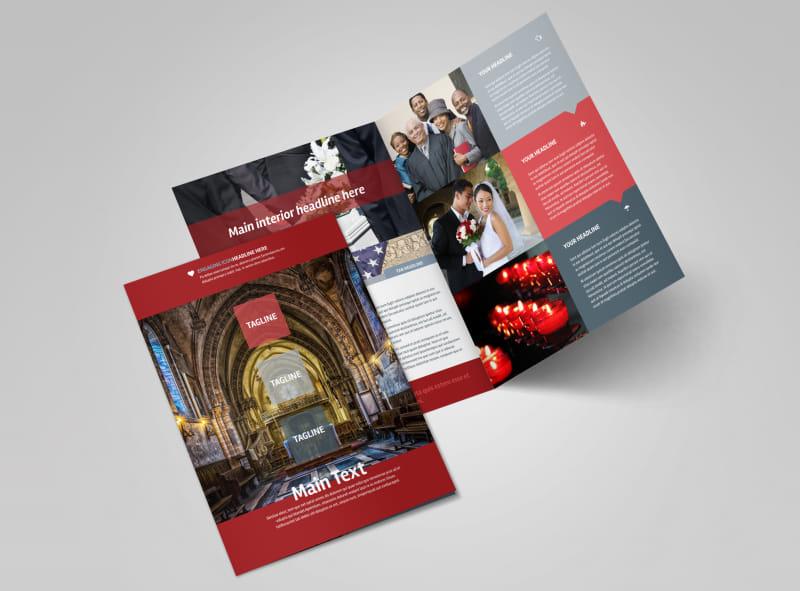 Service Info Bi-Fold Brochure Template 2
