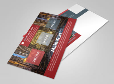 Service Info Postcard Template 2 preview