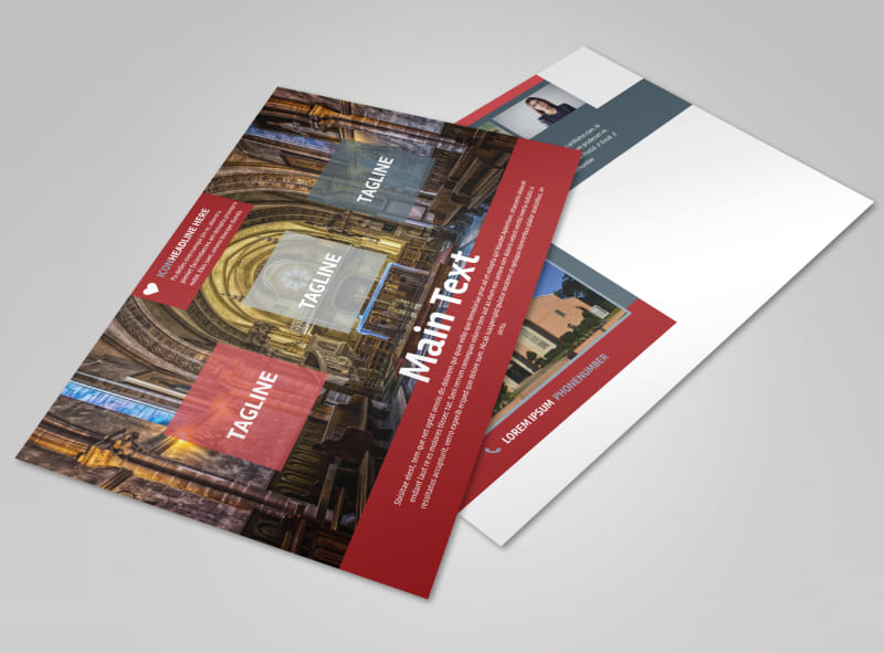 Service Info Postcard Template Preview 4