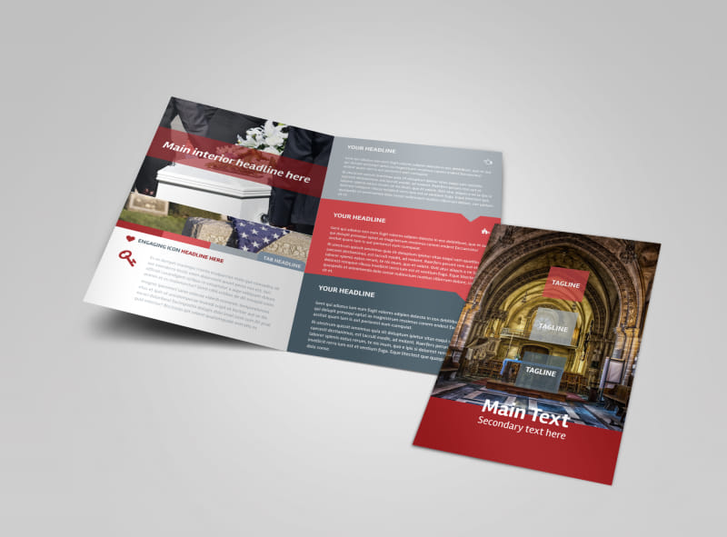 Service Info Brochure Template Preview 4
