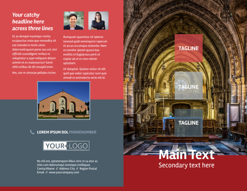 Service Info Brochure Template Preview 2