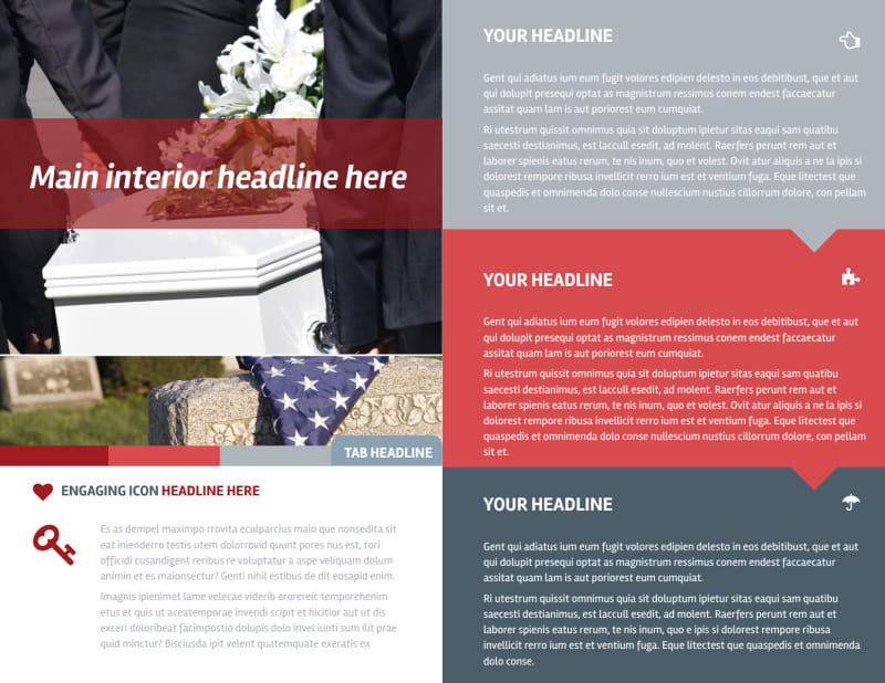 Service Info Brochure Template Preview 3