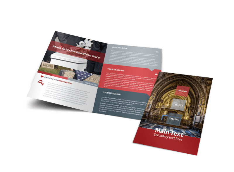 Service Info Brochure Template Preview 1