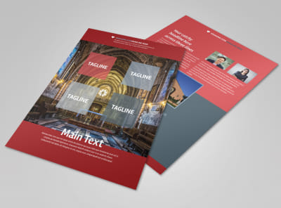 Service Info Flyer Template preview