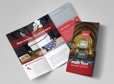 Service Info Tri-Fold Brochure Template preview