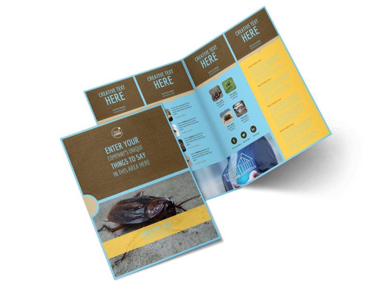 Exterminator Bi-Fold Brochure Template 2