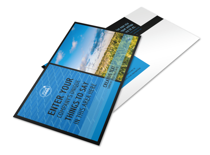 Eco Investments Postcard Template Preview 1