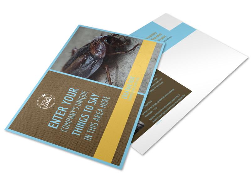 Exterminator Postcard Template
