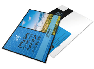 Eco Investments Postcard Template preview