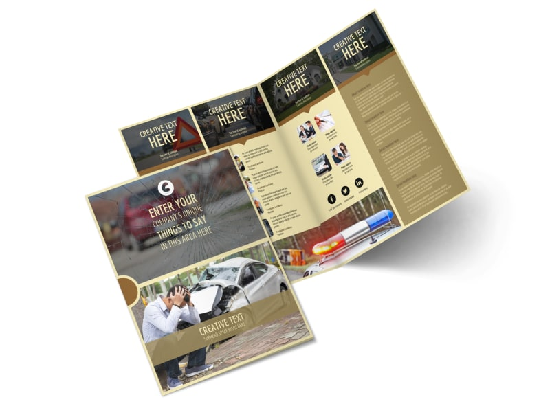 Accident Compensation Bi-Fold Brochure Template 2