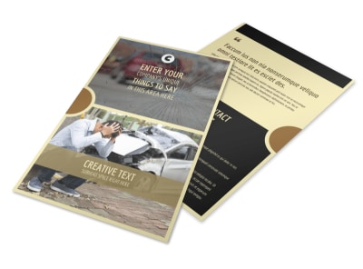 Accident Compensation Flyer Template 3