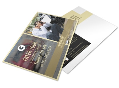 Accident Compensation Postcard Template