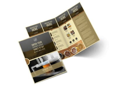Food & Brewery Bi-Fold Brochure Template 2 preview