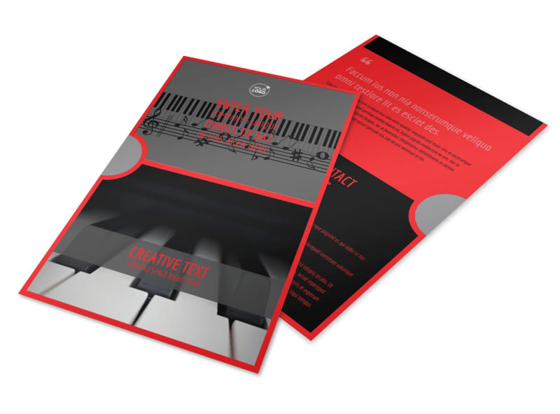 Piano Lessons Flyer Template 3