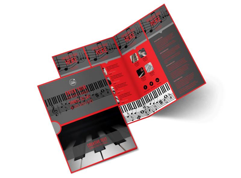 Piano Lessons Bi-Fold Brochure Template 2