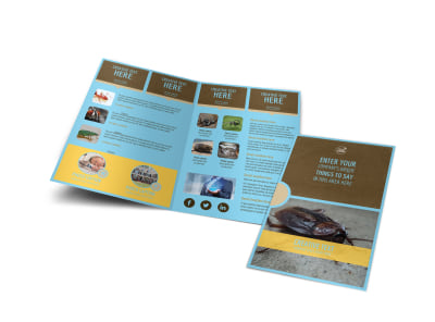 Exterminator Bi-Fold Brochure Template preview