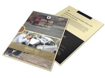 Accident Compensation Flyer Template
