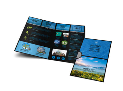 Eco Investments Bi-Fold Brochure Template preview
