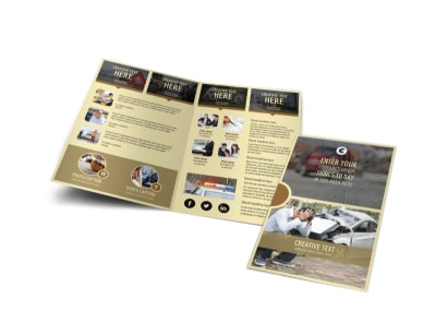 Accident Compensation Bi-Fold Brochure Template