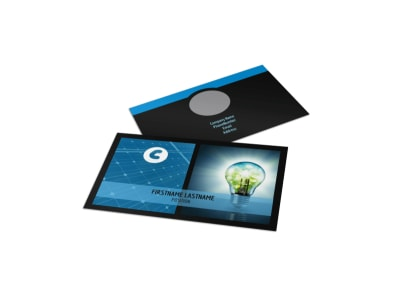 Eco Investments Business Card Template preview